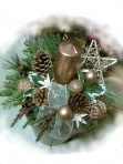 Malý medený vianočný aranžmán