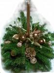 Bronzovohnedý vianočný aranžmán