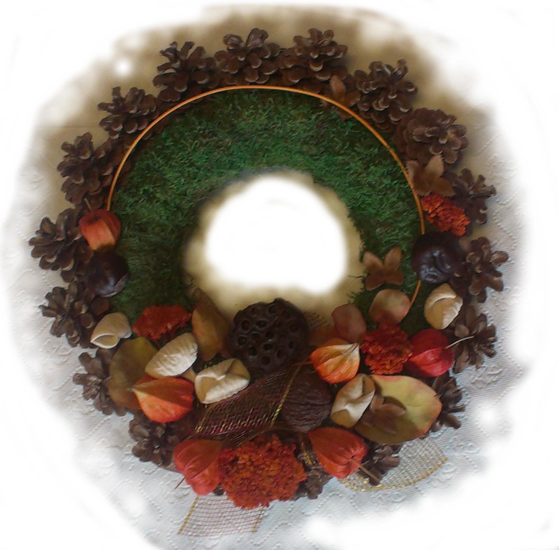 Jesenný machový veniec