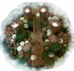 Trvanlivý bronzový adventný veniec