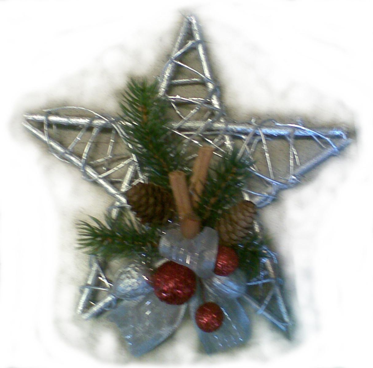 Strieborná vianočná hviezda