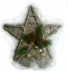Zlatá vianočná hviezda