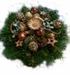 Bronzovozlatý vianočný aranžmán