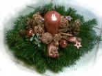 Medený vianočný aranžmán