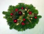 Zlatočervený vianočný aranžmán
