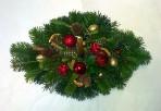 Zlatistý vianočný  aranžmán