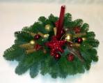 Zlatobordový vianočný  aranžmán
