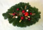 Červenozlatistý vianočný aranžmán