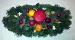 Prírodný vianočný aranžmán