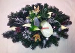 Vianočný aranžmán s antúriou