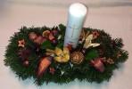 Bronzovoprírodný vianočný aranžmán