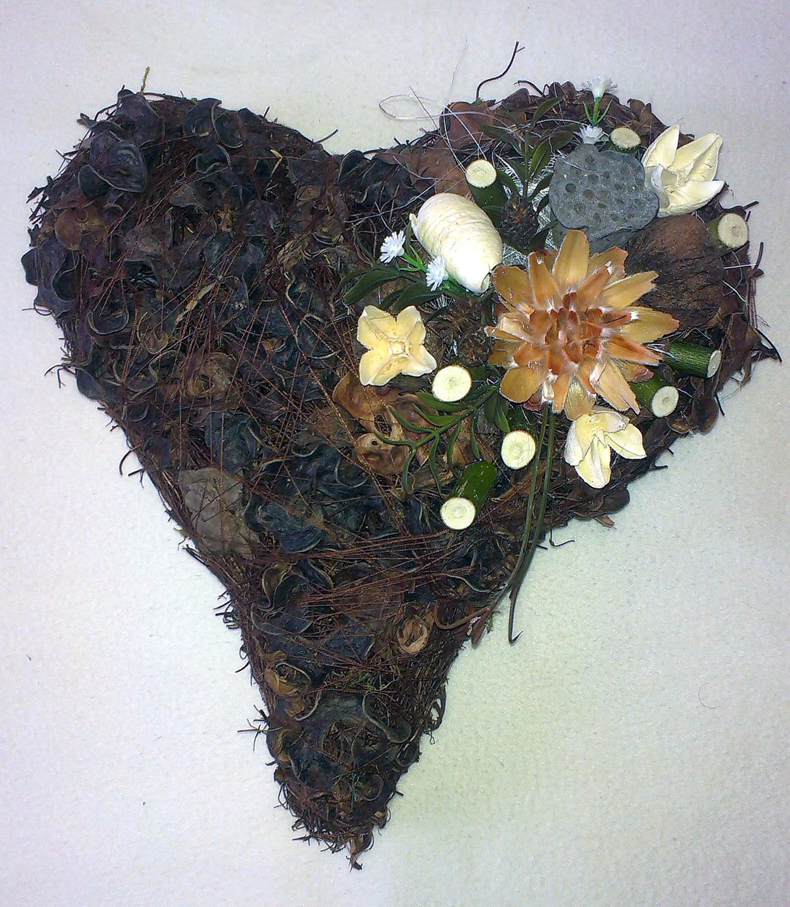 Hnedobiele srdce